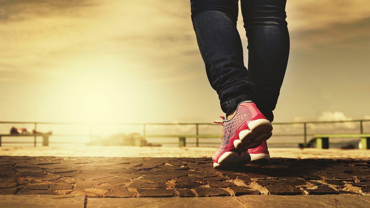痩せる,歩く,女性